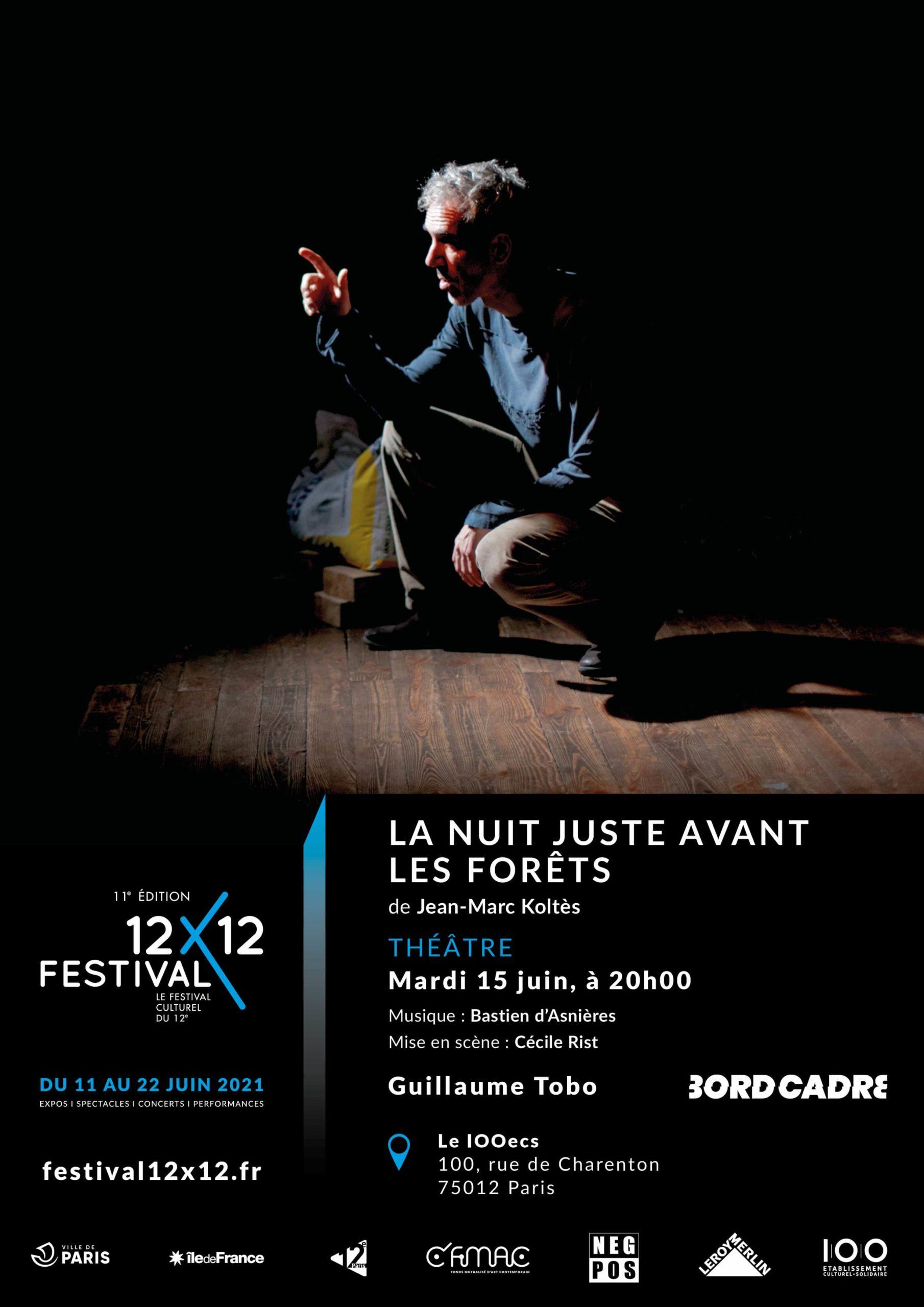 La nuit juste avant les forêts Le 100 ECS Paris