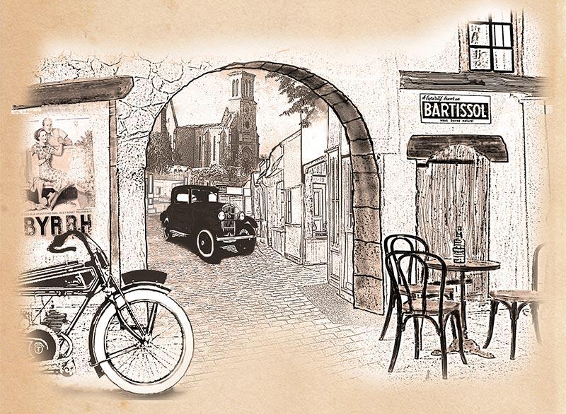 La Rue du Temps qui passe Allas-les-Mines