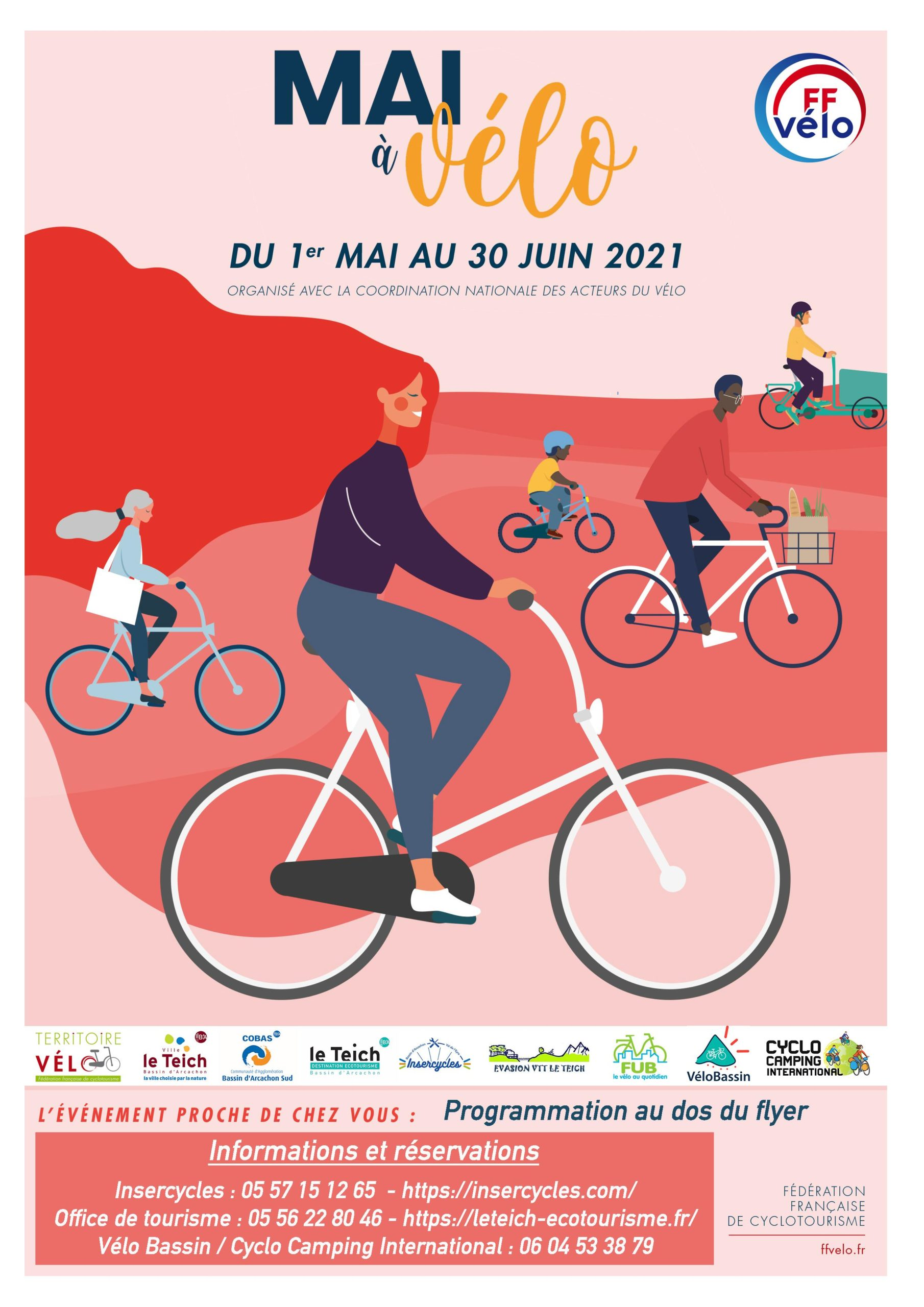 Mai à vélo Le Teich