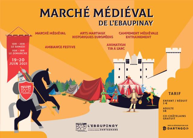 Marché médiéval de l'Ebaupinay Argentonnay