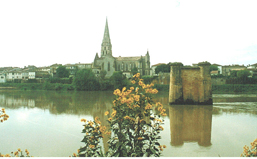 Piles de l'ancien pont métallique de Langon