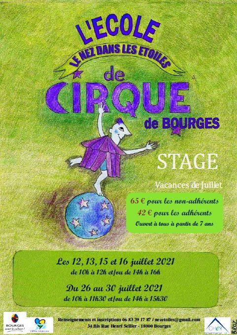 Stage de Cirque le Nez dans les étoiles Bourges