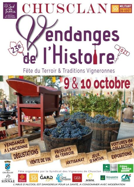 LES VENDANGES DE L'HISTOIRE CENTRE VILLAGE Chusclan