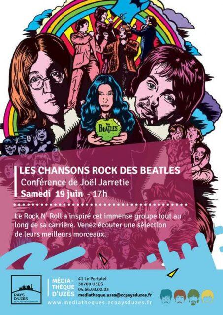 Conférence - Les chansons Rock des Beatles Uzès   2021-06-19