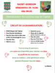 Déambulation du Nouveau Coq de l'Eglise de Saint-Gondon Saint-Gondon   2021-06-25