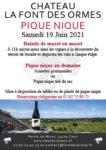 Pique-Nique au Château La Font des Ormes domaine la font des ormes Caux