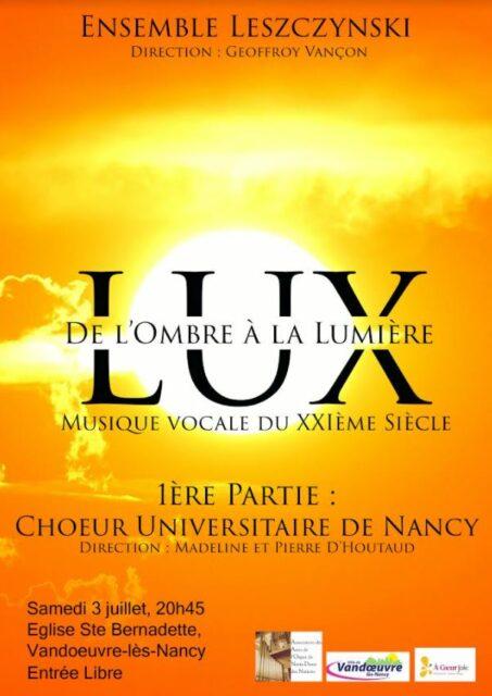 ENSEMBLE LESZCZYNSKI : CONCERT GRATUIT Vandœuvre-lès-Nancy   2021-07-03