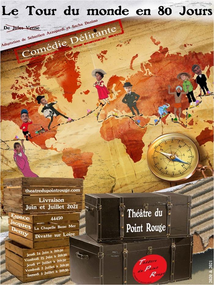 Pièce de Théâtre Le Tour du Monde en 80 Jours Espace Jacques Demy Divatte-sur-Loire