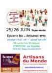 Expo-vente Artisans du Monde Compiègne Compiègne   2021-06-25