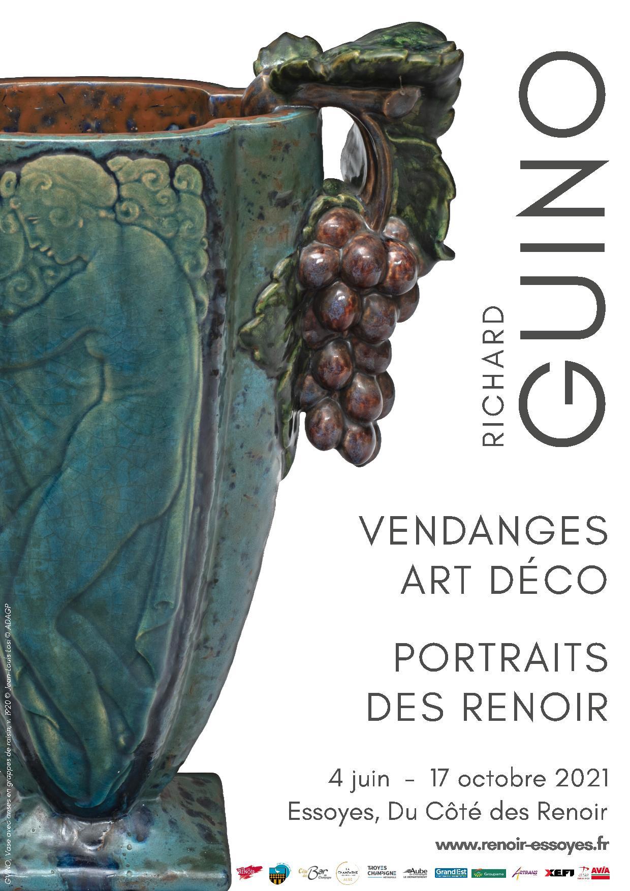 Exposition : Richard Guino – Vendanges, Art Déco, Portraits des Renoir Essoyes