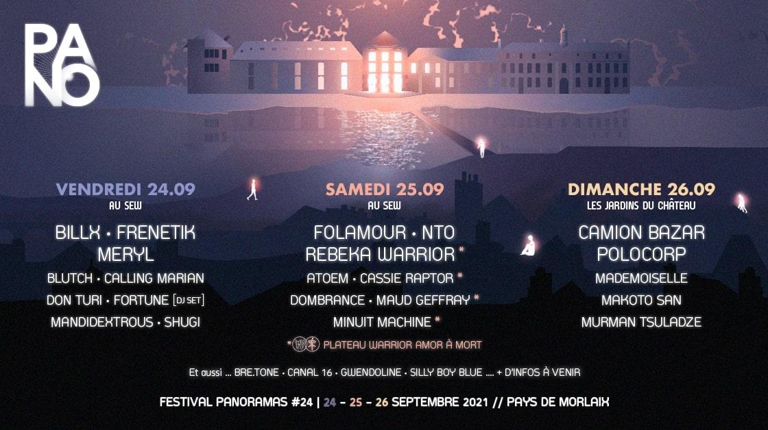 MORLAIX. FESTIVAL PANORAMAS DU 24 AU 26 SEPTEMBRE 2021