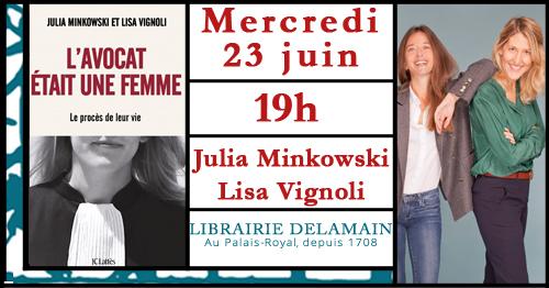 Julia Minkowski & Lisa Vignoli en signature chez Delamain ! Librairie Delamain Paris
