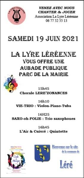La lyre Léréenne vous offre une Aubade publique Léré   2021-06-19