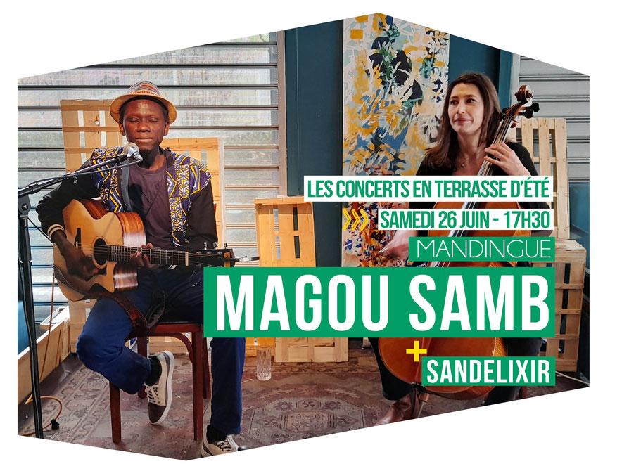MAGOU SAMB // MANDINGUE + SANDELIXIR L'ODÉON – Scène Musicale de Tremblay