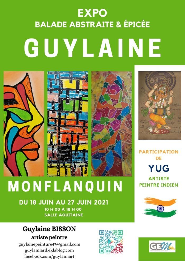 """Exposition peinture """"Balade abstraite & épicée"""" GUYLAINE Monflanquin - 47150 - Lot et Garonne Cunèges"""