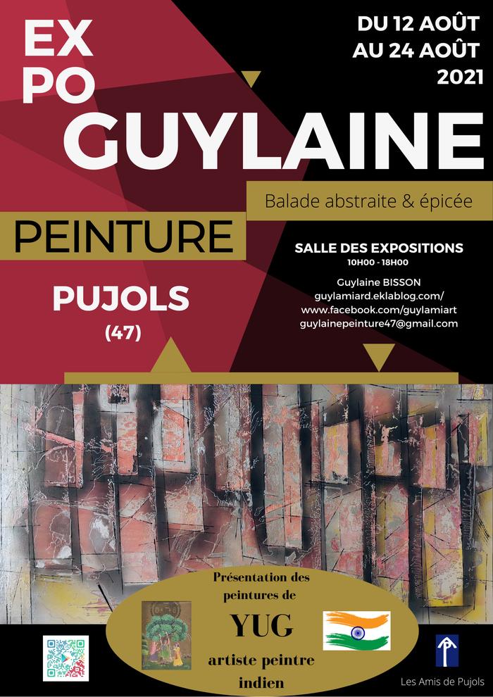 Exposition peinture «Balade abstraite & épicée» GUYLAINE Pujols