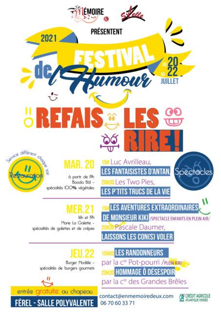 Festival de l'humour REFAIS-LES RIRE salle polyvalente 56130 FEREL Assérac