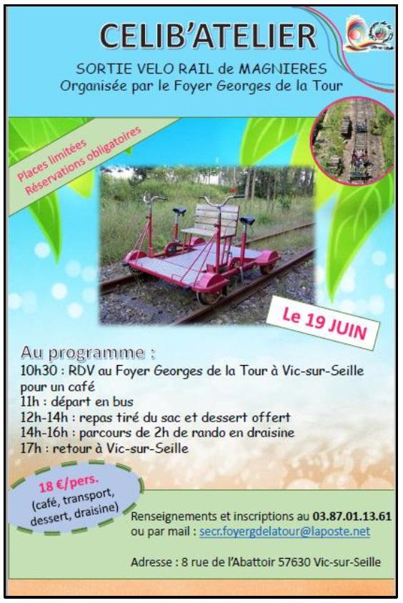 SORTIE VÉLO RAIL AVEC LE CÉLIB'ATELIER Vic-sur-Seille   2021-06-19