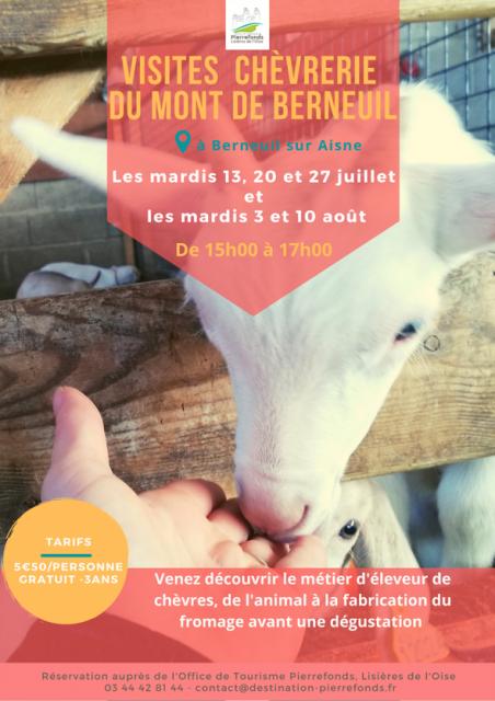 Visites de la chèvrerie de Berneuil-sur-Aisne Berneuil-sur-Aisne   2021-07-27
