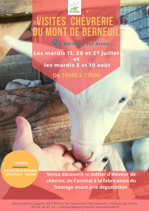 Visites de la chèvrerie de Berneuil-sur-Aisne Berneuil-sur-Aisne   2021-08-03