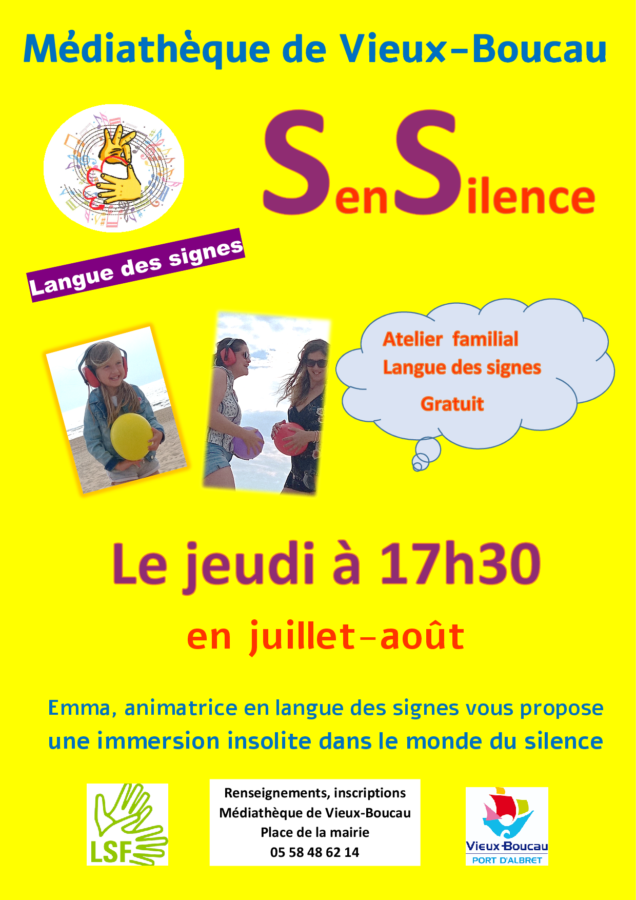 Atelier familial / Langue des signes Vieux-Boucau-les-Bains