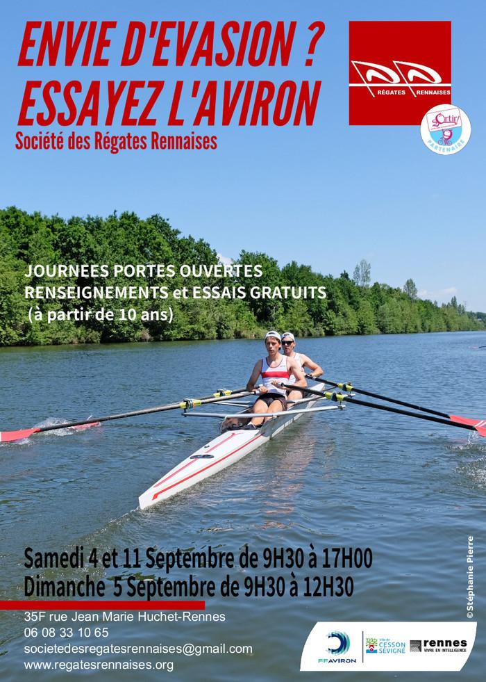 Aviron à Rennes : portes ouvertes et essais gratuits Base Nautique Plaine de Baud Rennes
