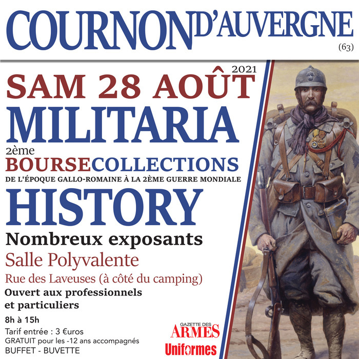 Salon History & Militaria cournon d'auvergne Cournon-d'Auvergne