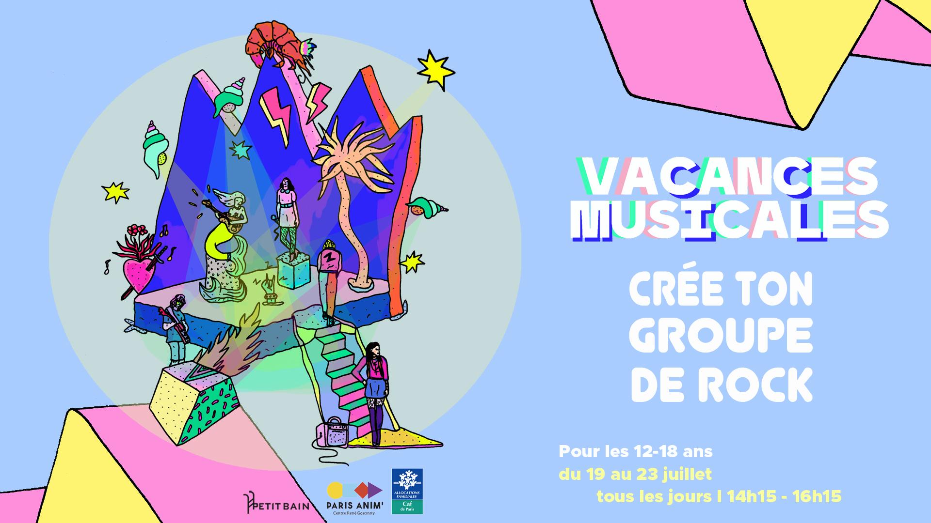 Crée ton groupe de rock / rap – au Centre Goscinny Centre Paris Anim' René Goscinny