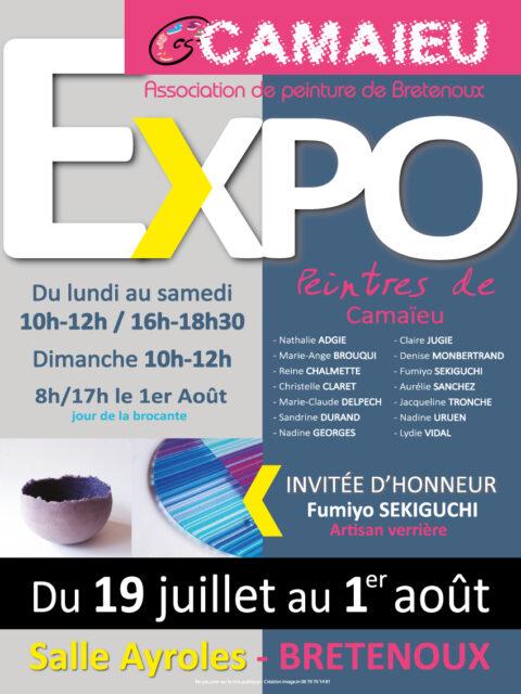 "Exposition ""Peintres de Camaïeu"" Bretenoux"
