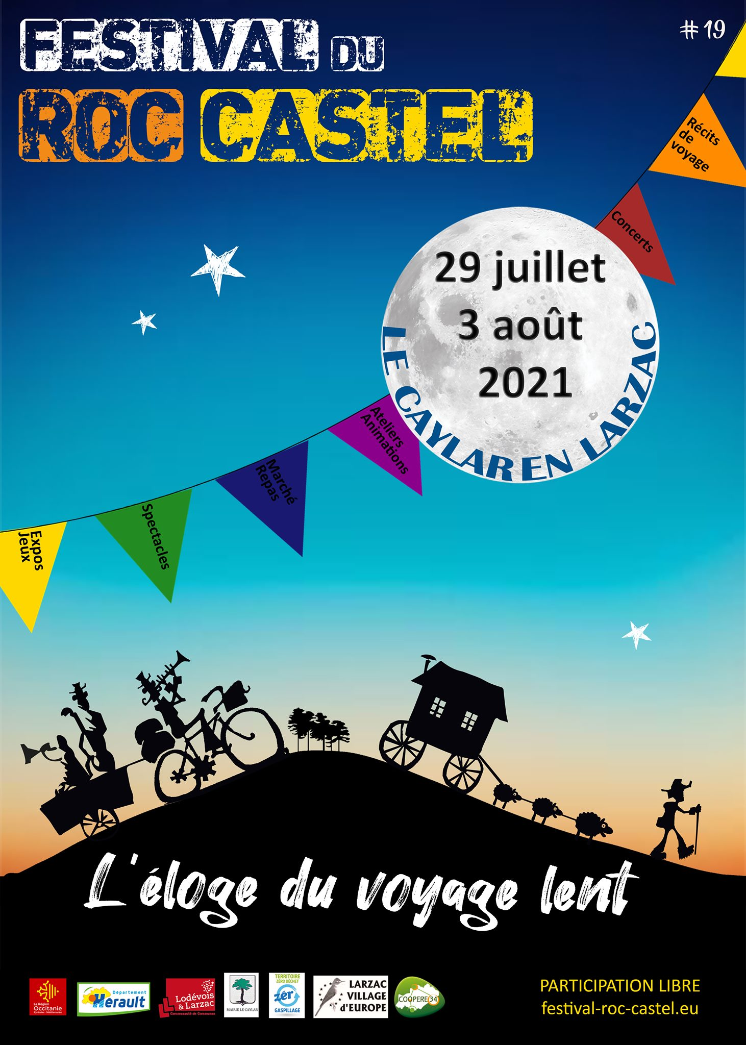"""FESTIVAL DU ROC CASTEL """"L'ÉLOGE DU VOYAGE LENT"""" Le Caylar"""