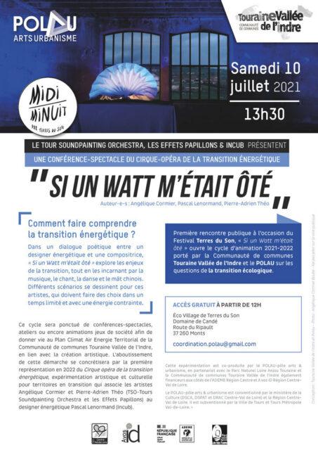 CONFÉRENCE-SPECTACLE : Si un Watt m'était ôté Festival Terres du Son Monts