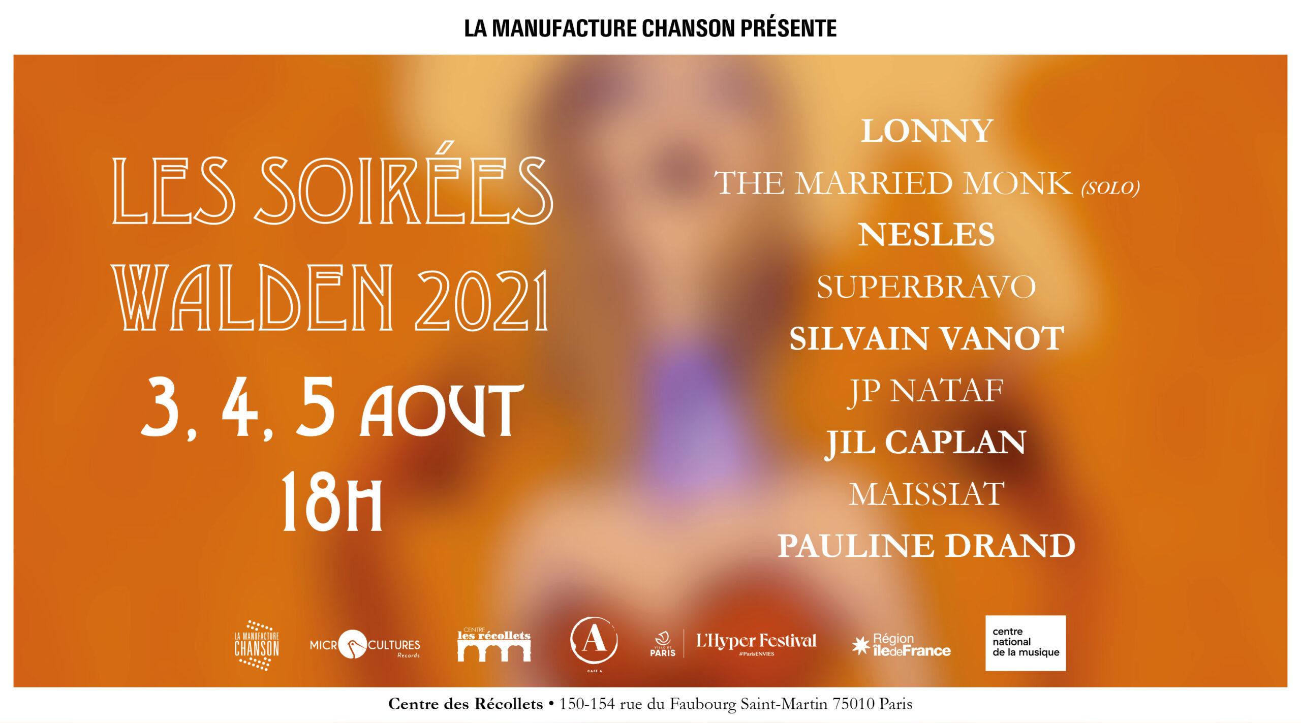 Les Soirées Walden 2021 Centre des Récollets Paris