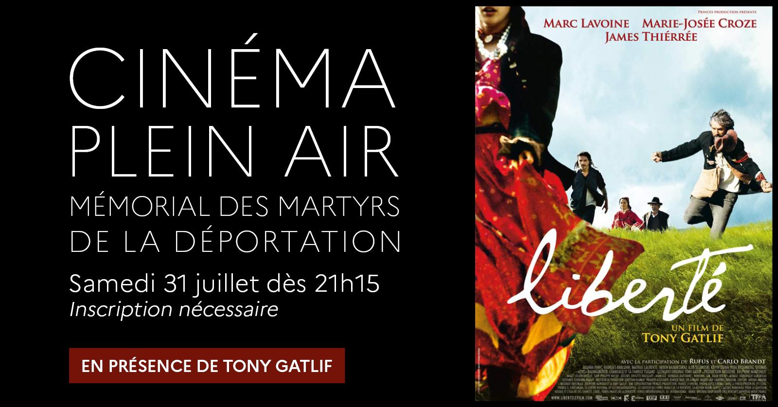 """""""Liberté"""" de Tony Gatlif [Cinéma plein air] Mémorial des martyrs de la Déportation Paris"""