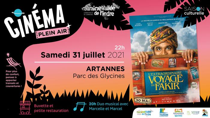 ⛱ CINEMA PLEIN AIR - Samedi 31 juillet à ARTANNES-SUR-INDRE ? Parc des Glycines Artannes-sur-Indre