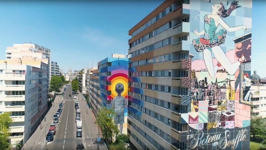 """Promenade musicale """"street art"""" dans le 13e arrondissement Médiathèque Jean-Pierre Melville Paris"""