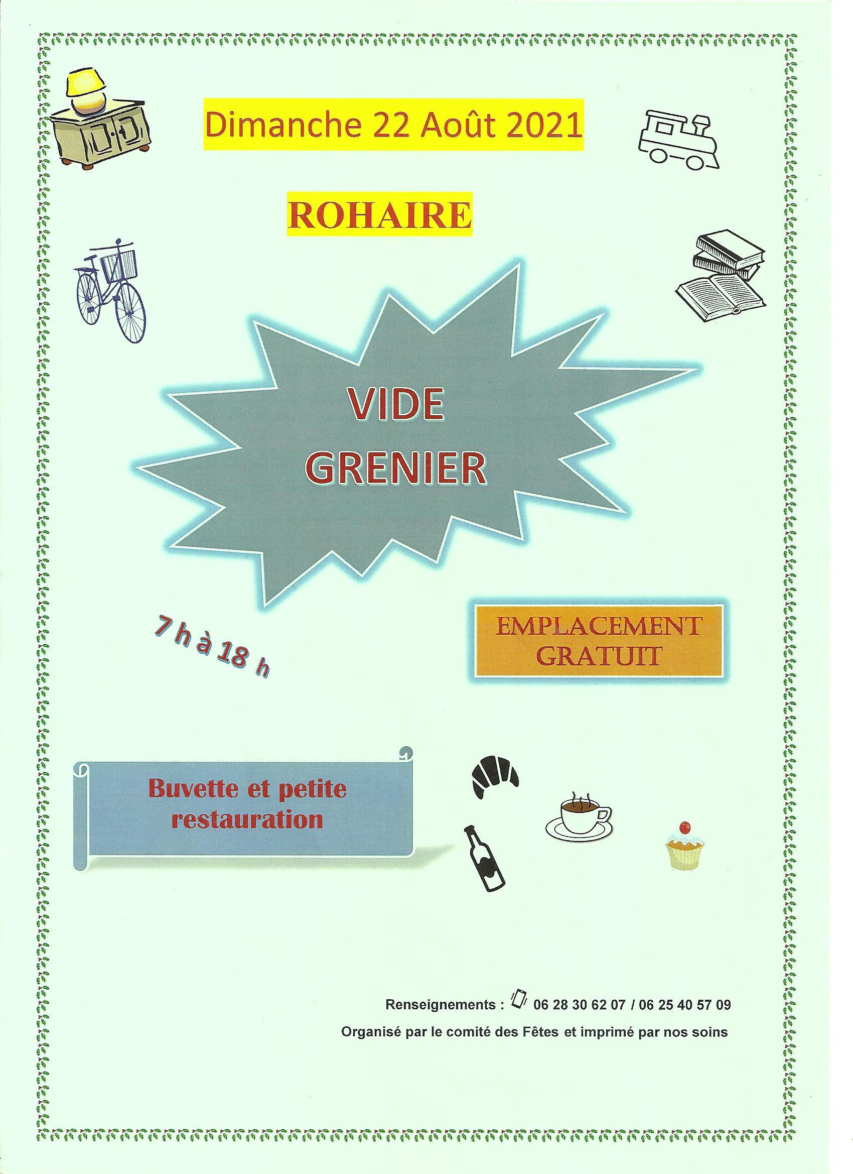 Vide grenier - Rohaire Rohaire Eure-et-Loir  2021-08-22