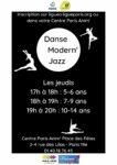 Danse Moderne Jazz Centre Paris Anim' Place des fêtes Paris