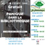 """Escape Game """"Panique dans la bibliothèque"""" Nogent-sur-Vernisson"""