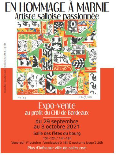 Exposition-vente en hommage à Marnie Salles