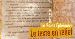 Le texte en relief Librairie des Editeurs associés Paris