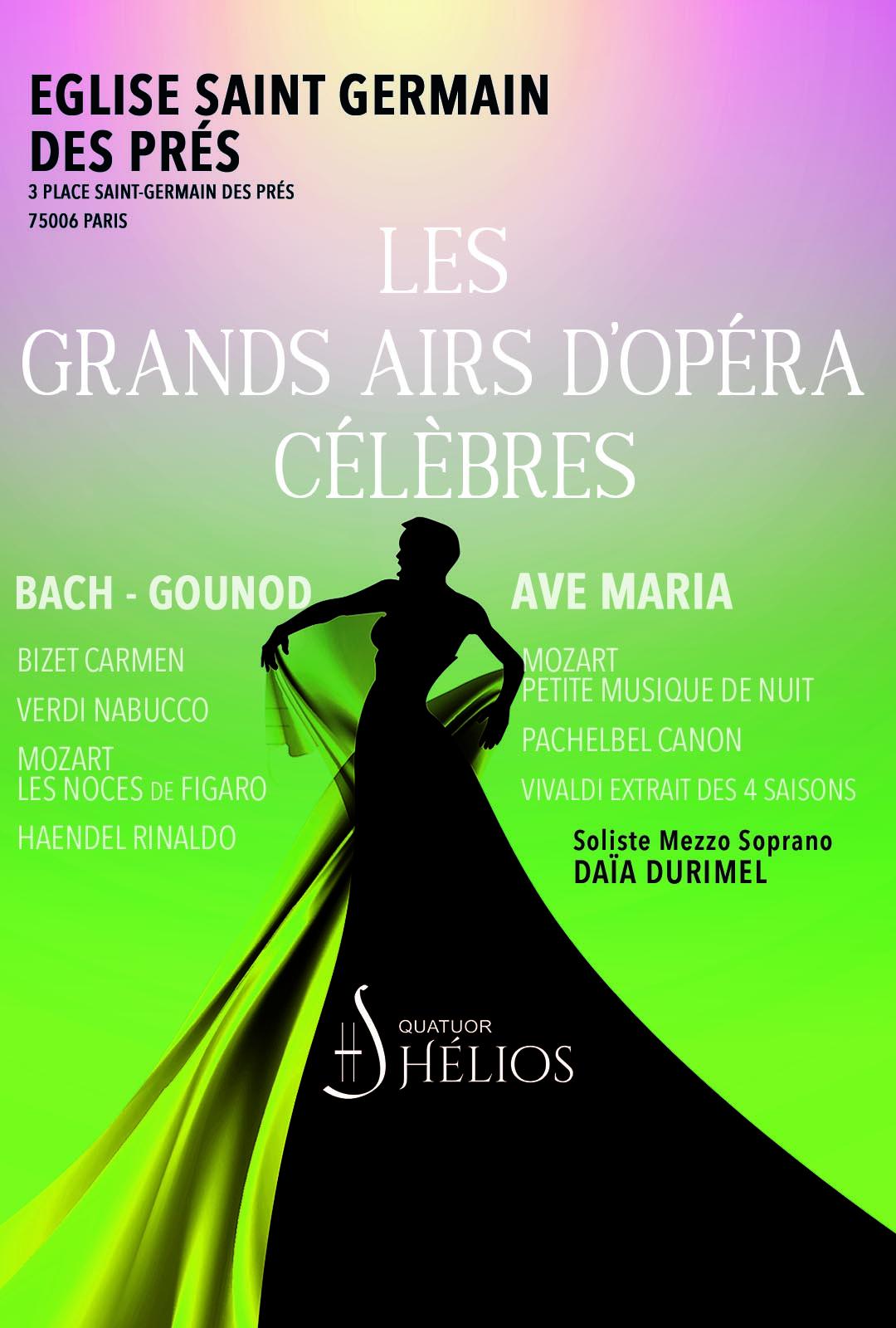 Les Grands Airs d'Opéra pour Mezzo Eglise Saint Germain des Prés Paris