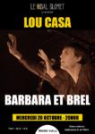 LOU CASA – BARBARA & BREL LE BAL BLOMET Paris