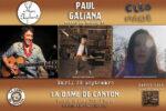 Paul Galiana + Cléo Marie + Mon Elephant La Dame de Canton Paris
