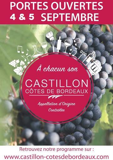 Portes ouvertes châteaux viticôles Castillon Côtes de Bordeaux Castillon-la-Bataille