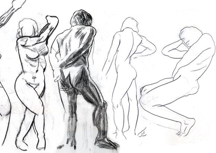 Stage de dessin : l'anatomie humaine (formes de bases). Musée du Louvre Paris
