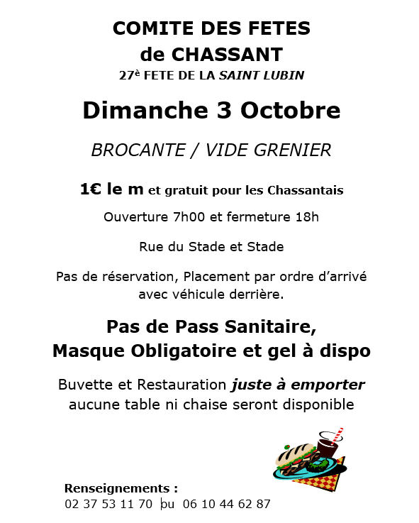Brocante - Chassant Chassant   2021-10-03