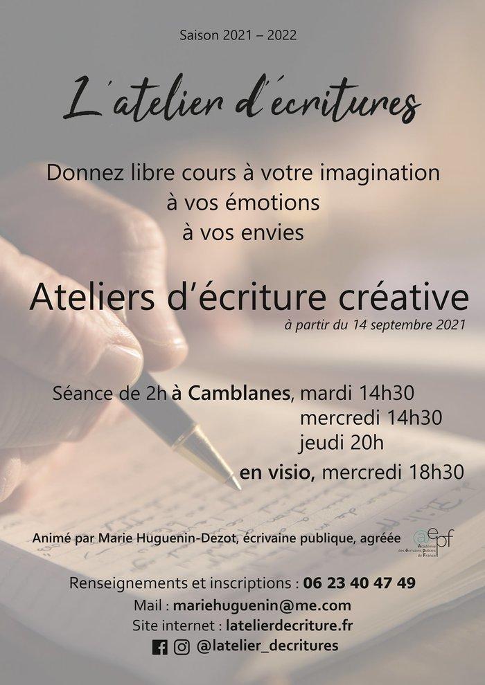 Atelier d'écriture créative Camblanes-et-Meynac (33) Caudrot