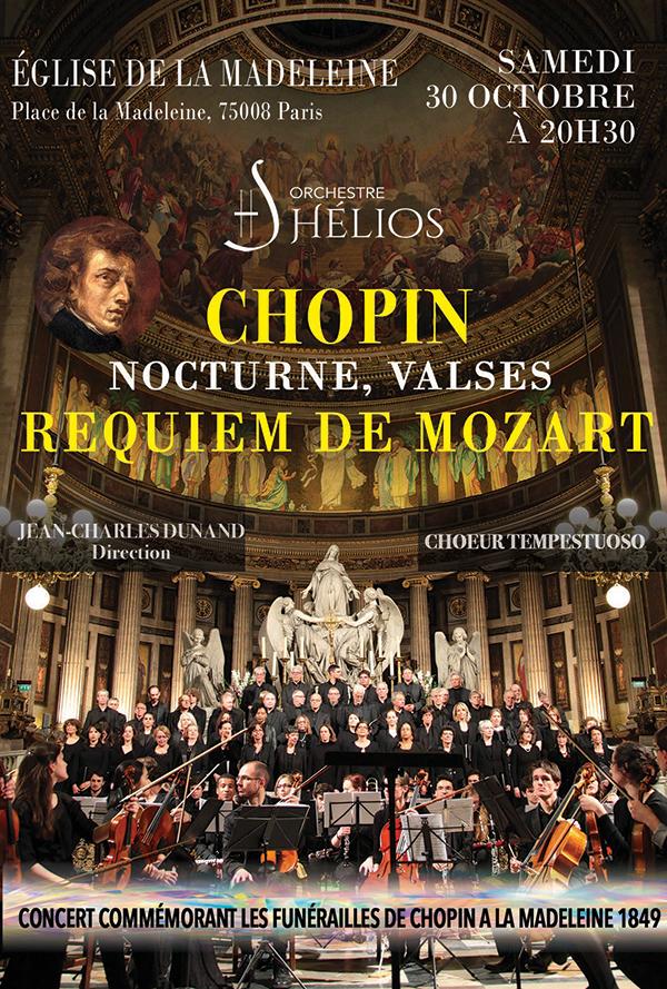 Concert Commémoratif des Funérailles de Chopin Eglise de la Madeleine Paris