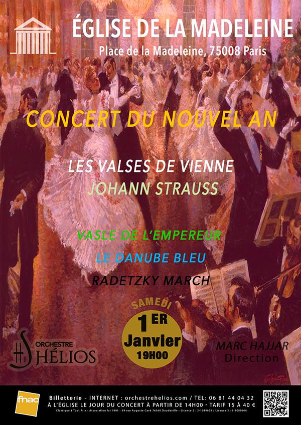 Concert du Nouvel An - Les Valses de Johann Strauss Eglise de la Madeleine Paris
