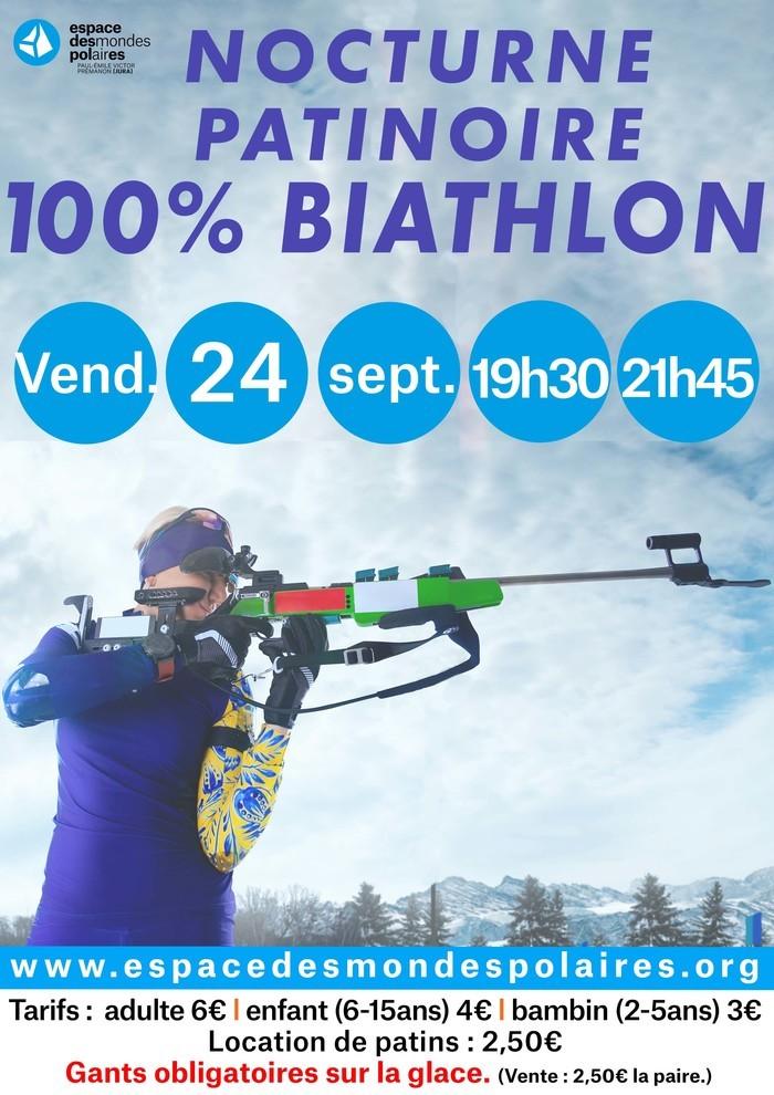 Nocturne à la patinoire : 100% biathlon Espace des Mondes Polaires Prémanon